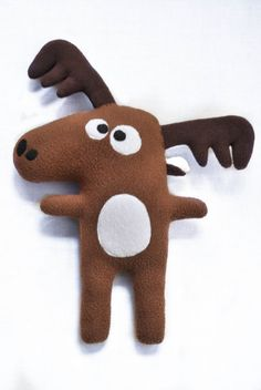 The Moose Plushie / Hand made plush doll by FunkySunday on Etsy
