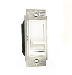 Get it now Leviton 6613-PLW Single Pole or 3-Way SureSlide 450W Preset Magnetic Low-Voltage Dimmer, White