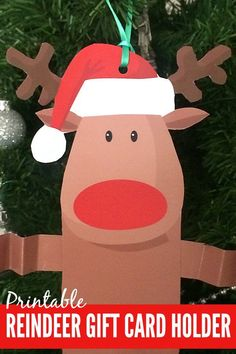 Free Printable Reindeer Gift Card Holder