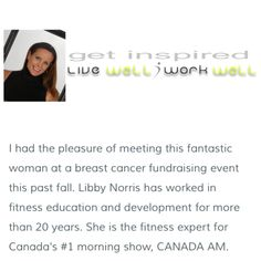 My Legwear Shop receives honourable mention from CTV Canada AM fitness expert Libby Norris! Read more about her and follow her segments.
