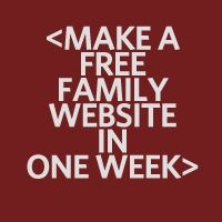 Want to make a family website?   We'll guide you! Check out our workshop.