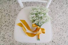 gypsophila bouquet - photo by Carmen and Ingo Photography http://ruffledblog.com/german-barn-wedding