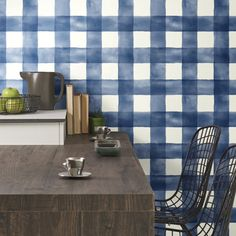 Buffalo Check. Premium. Matte Finish. Made in USA. $45. Temporary. Removable. #BuyAmerican #DIY #homedecorideas #removablewallpaper Peel And Stick Wallpaper, Breakfast Nook, Your Space, Watercolor, Buffalo Check, Showroom, Knowledge, York, Tools