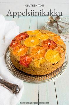 Ihana ja mehevä appelsiinkikakku onnistuu helposti gluteenittomana. Kakku on tosi helppo leipoa ja siihen voi käyttää erilaisia sitruksia.  #leivonta #kakku #tervelelinen #resepti