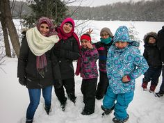 We had the privilege of taking 50 Syrian refugees from Toronto for a day of winter fun in Arrowhead Provincial Park.