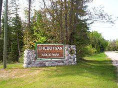 Cheboygan state park entrance