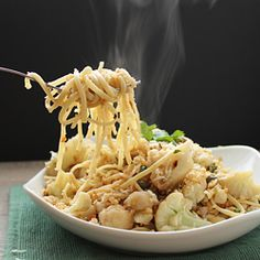 Cauliflower Linguine with Lemon, Capers, Walnuts, and Breadcrumbs