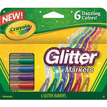 Nice addition to an #Easter basket! Crayola 6-Count Glitter Markers