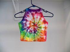 Tie Dye Crop Top -- Music Festival Clothing, Hipster, Boho, Hippie , Rainbow, Rave wear by TieDyeByJas on Etsy https://www.etsy.com/listing/243406494/tie-dye-crop-top-music-festival-clothing