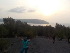 Look the wonderful view behind of me #krakatau #Indonesia