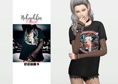 Hobgoblin T-Shirt • New mesh / EA mesh edit • Category: top (women) • Age: teen / young adult / adult / elder • 5 swatches  Download: SimFileShare