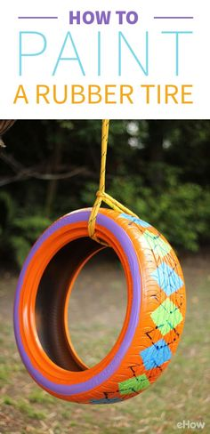 Upcycling old rubber tires is a great way to keep them out of landfills. And they& easy to paint with bright colors and fun patterns. Tire Playground, Reuse Old Tires, Reuse Recycle, Recycled Tires, Upcycle, Tire Craft, Painted Tires, Tire Garden, Garden Hose