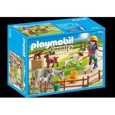 Playmobil 6133 - Cercado De Caprinos E Mulas - Cx Lcrd