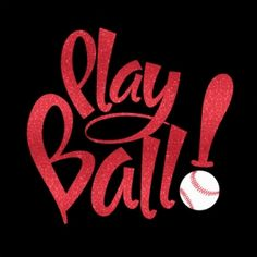 Play Ball With Your Choice Of Glitter Or Solid Iron On Heat Tshirt Transfer Vinyl Baseball Decal Sports Team Fan Wear Spirit Wear
