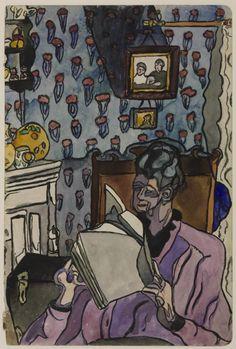 MORRIS, Sir Cedric British (1889-1982)_Frances Hodgkins c 1917