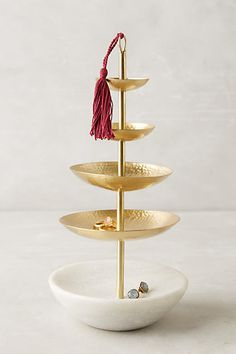 Tasseled Jewelry Stand - anthropologie.com