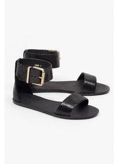 Superette x Beau Coops Leelah Sandal - Black Stingray - Superette   Your Fashion Destination.