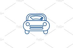 Window Design, Line Icon, Outline, Symbols, Concept, Car, Illustration, Automobile, Illustrations