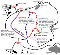 Arthurs Seat Walking Route Map by Geowalks
