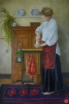 Turning the Cheese by Laura den Hertog Oil ~ 36 x 24