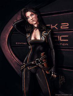 http://tinkarooni.deviantart.com/art/Miranda-Lawson-alt-armor-445272982