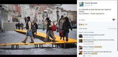 The Floating Piers, ironia sui social per l'opera di Christo - La passerella a Venezia