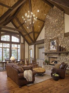 Stone walls and exposed rafters