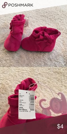 Boots Pink boots with bow on side Children's Place Shoes Baby & Walker