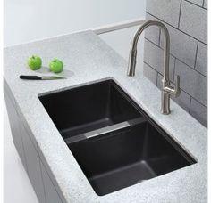 """""""L x W Doppelwaschbecken Undermount Kitchen Sink - Moderne Küche Modern Kitchen Sinks, Double Bowl Kitchen Sink, Kitchen Sink Faucets, Kitchen And Bath, New Kitchen, Kitchen Sink Ideas Undermount, Brass Kitchen, Kitchen Black, Black Kitchens"""