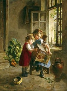 The Favourite Pet-Paul Seignac (1826 – 1904, French)