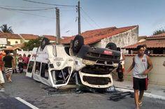 CIDADE: Acidente grave com uma Van deixa 12 feridos