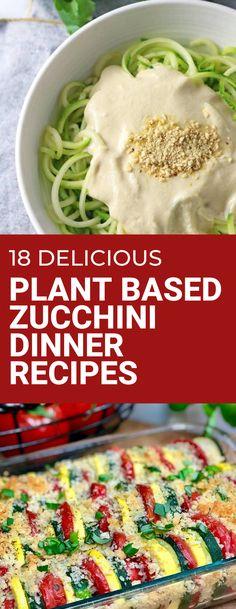 Best vegan zucchini dinner recipes to make tonight! Use that garden fresh zucchini to make these plant based dinners. #plantbaseddinner #zucchini #zucchinirecipe #vegandinner Zucchini Dinner Recipes, Vegan Zucchini, Vegan Side Dishes, Side Dish Recipes, Main Dishes, Best Vegan Recipes, Healthy Recipes, Veggie Patties, Easy Vegan Dinner