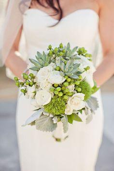bruidsboeket-groen-roosjes-bladsoorten