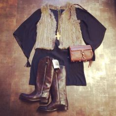 our fave fur vest and alice & trixie dress