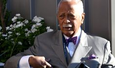 Former New York mayor David Dinkins is accused of hitting a delivery man with his car and breaking his ankle before driving off