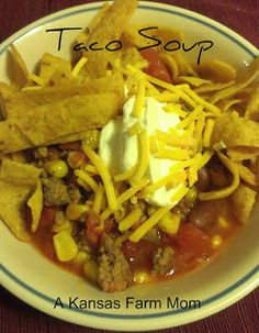 Tales of a Kansas Farm Mom: W4DW- Taco Soup