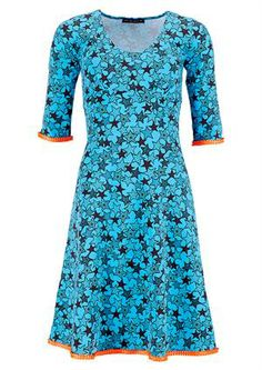 Mania dress STELLA Multistar turquoise/orange