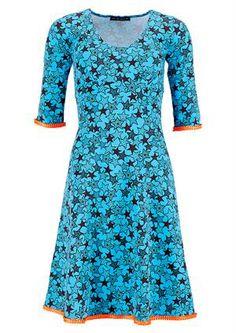 Mania dress STELLA Multistar turquoise/orange