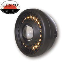 Shin Yo Cyclops Projector Halo LED Motorcycle Headlamp Side Mount