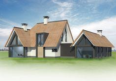 In ontwikkeling 5 - Bekhuis & KleinJan House Extensions, Modern House Plans, Architect Design, Villa, New Homes, Farmhouse, House Design, House Styles, Facade