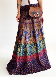 Vintage 1970s Indian hippie skirt @ www.secondhandnew.nl