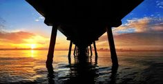 To infinity and beyond.  Sunrise image of Lauderdale By The Sea pier from @FtLauderdaleSun