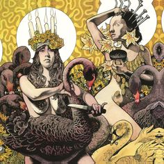 Music related: currently listening and soaking in the new Baroness album. Artwork done by guitarist/singer John Baizley. It's streaming now on Paste - http://www.pastemagazine.com/blogs/av/2012/07/album-stream-baroness---yellow-green.html
