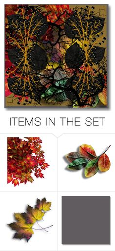 """LEAVES BERRIES AND ROOTS"" by kathy-martenson-sanko ❤ liked on Polyvore featuring art"