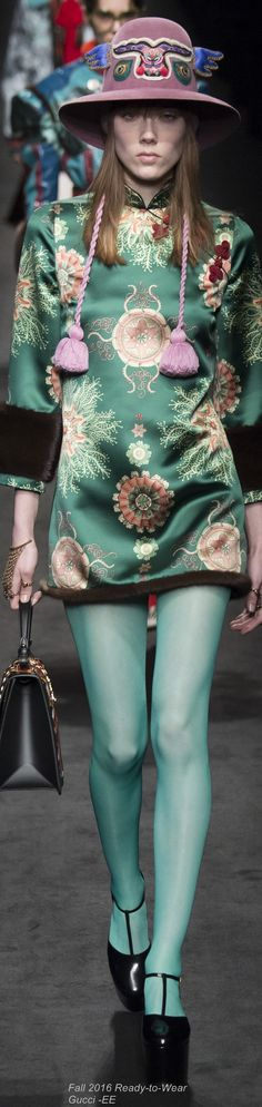 Fall 2016 Gucci #whenfashionisart https://www.pinterest.com/dcindcmedia/
