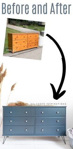 Before and After | 20 Year Old Ikea Dresser Makeover | Salvaged Inspirations #siblog #salvagedinspirations #paintedfurniture #furniturepainting #DIYfurniture #furniturepaintingtutorials #howto #furnitureartist #furnitureflip #salvagedfurniture #furnituremakeover #beforeandafterfurnuture #paintedvintagefurniture #roadsiderescues #chalkpaint #chalkpaintedfurniture #diyprojects #diyfurnituremakeover #furniturerestoration #furnitureideas