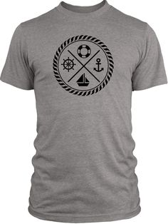 Big Texas Maritime Crest (Black) Vintage Tri-Blend T-Shirt