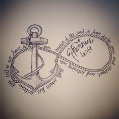 Anchored in Christ - tatoo ideas Girl Anchor Tattoos, Navy Tattoos, Anchor Tattoo Design, Old Tattoos, Trendy Tattoos, Body Art Tattoos, Tatoos, Feminine Anchor Tattoo, Beach Tattoos