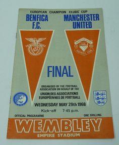 A 1968 European Cup Final programme, Benfica V Manchester United