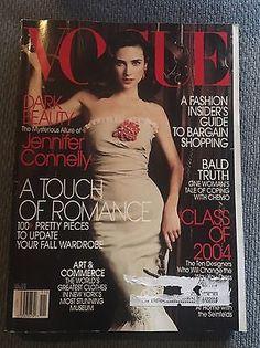 Vogue November 2004 Jennifer Connelly Jessica Simpson CDFA Fashion Fund